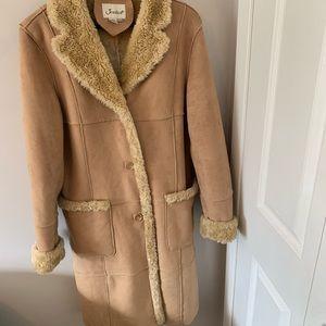 Jessica / Faux Fur + Suede / Coat